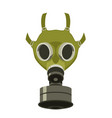 gas mask flat style front vector image vector image