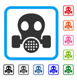 gas mask framed icon vector image vector image