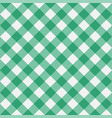 gingham green diagonal vector image