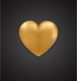 Golden Heart vector image