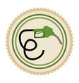 green emblem nozzle icon vector image vector image