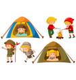 happy children doing different activities vector image vector image