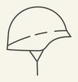hard hat thin line icon helmet vector image