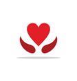 heart love sign logo vector image vector image