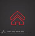 home outline symbol red on dark background logo vector image