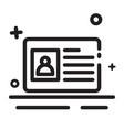 icon identity card icon id card icon modern vector image