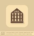jail prison icon symbol of justice police icon vector image vector image