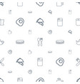 kitchen icons pattern seamless white background vector image vector image
