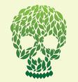 leaf-skull vector image