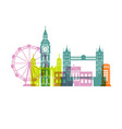 london architecture london architecture vector image
