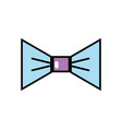 nice bowtie style decoration design vector image vector image