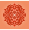 Ornamental round lace pattern circle background