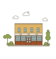 Pub Building Flat Style vector image vector image