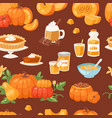 pumpkin food soup cake pie meals organic vector image