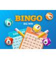 realistic detailed 3d lotto concept bingo big win vector image vector image