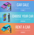 rent and sale of cars vector image vector image