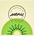restaurant menu fresh juices vector image