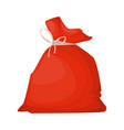 santa claus bag full of beautiful gifts christmas vector image vector image