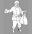 santa claus holding a sack vector image vector image