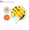 Satay or Malaysian Style Barbecue vector image vector image