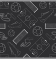 seamless pattern football black vector image vector image