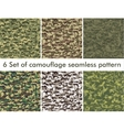 Seamless set of camouflage military pattern Cloth vector image vector image
