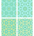 Set of seamless geometric patterns vector image vector image