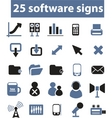 software signs vector vector image