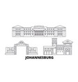 south africa johannesburg line travel skyline set