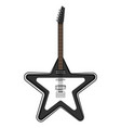star shaped electric guitar musical instrument vector image