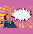 surprised man businessman pop art vector image vector image