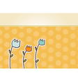 thank you flowers card vector image