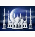 The mosque with half moon vector image vector image
