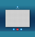 video call screen template vector image