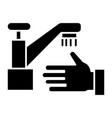 washing hands - wash crane icon vector image