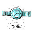 watch fashion sketch vector image
