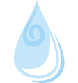 Water drop pattern vector image vector image