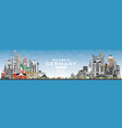 welcome to germany skyline with gray buildings vector image vector image