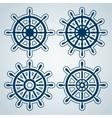 Set of ship steering wheels vector image