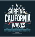surf t-shirt graphic design surfing grunge print vector image