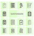 14 questionnaire icons vector image vector image
