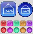 50 discount icon sign A set of twelve vintage vector image vector image