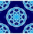 Abstract ornamental snowflake pattern vector image vector image