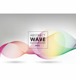 abstract smooth waves lines colorful on white vector image