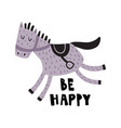 be happy horse vector image vector image