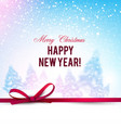 beautiful christmas background with blurred vector image