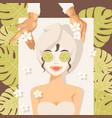 beauty procedure in spa salon vector image
