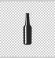 beer bottle icon on transparent background vector image vector image