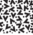 Black And White Graphic Seamless Pattern vector image vector image
