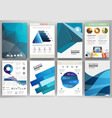 blue backgrounds and abstract concept vector image vector image